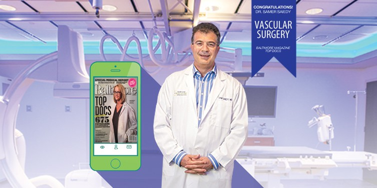 Dr. Samer Saiedy Maryland Vascular Specialists Top Doctor in Baltimore, MD